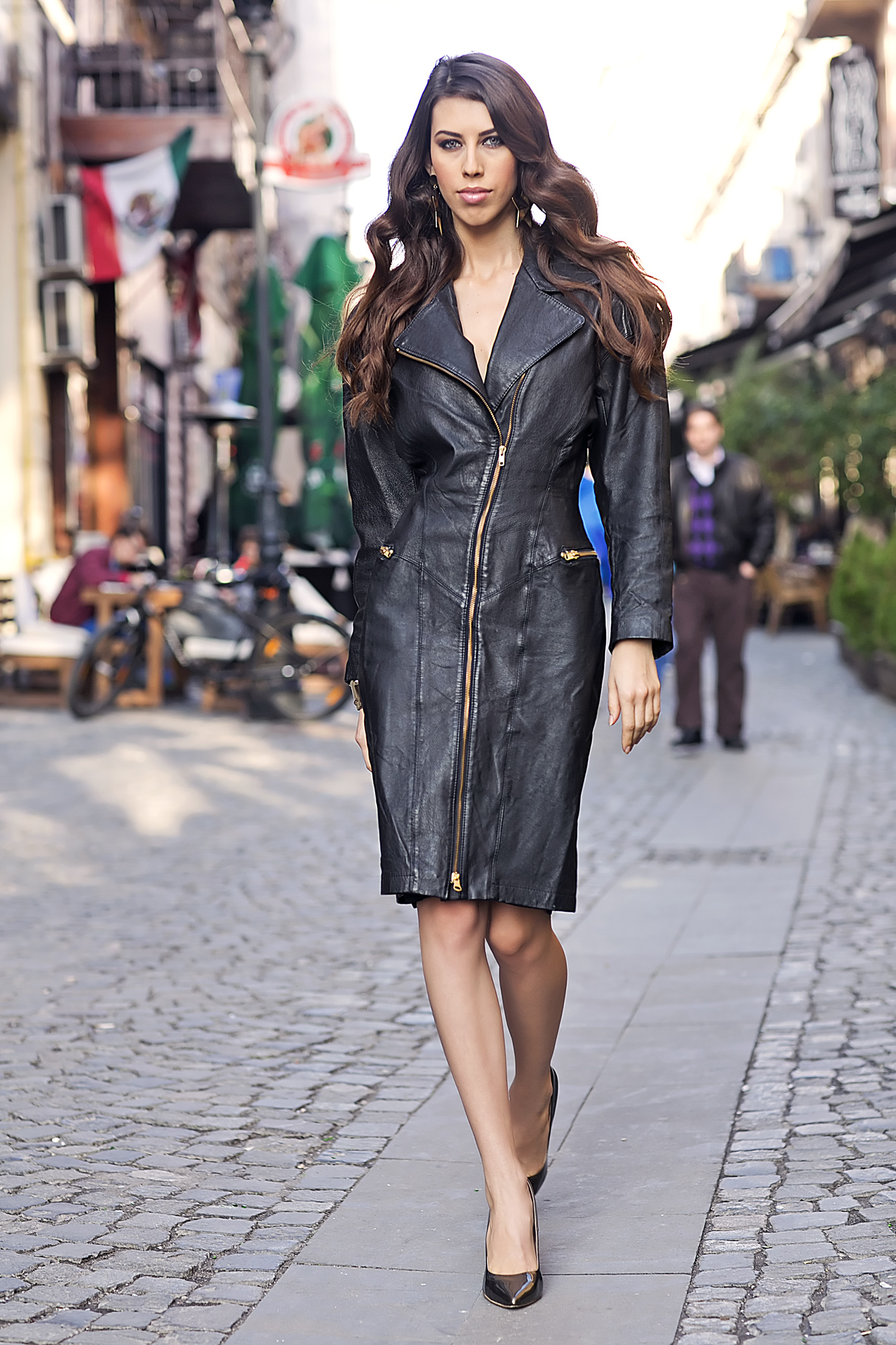 The Vintage Leather Dress
