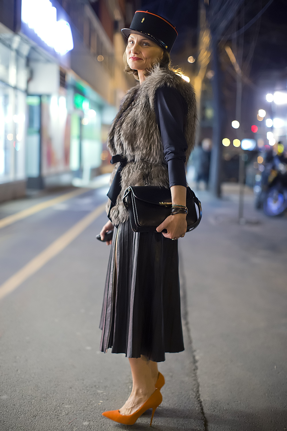 Street Fashion Bucharest Evening