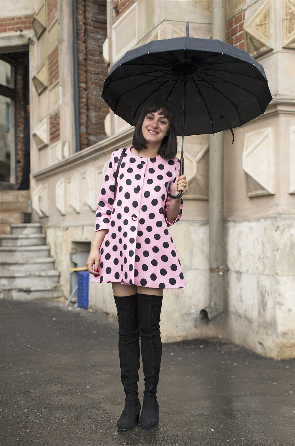 Ana Morodan Pink And Polka Dots