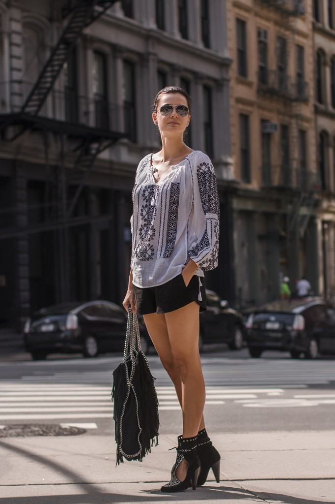 Corina Barladeanu On The Streets Of NY