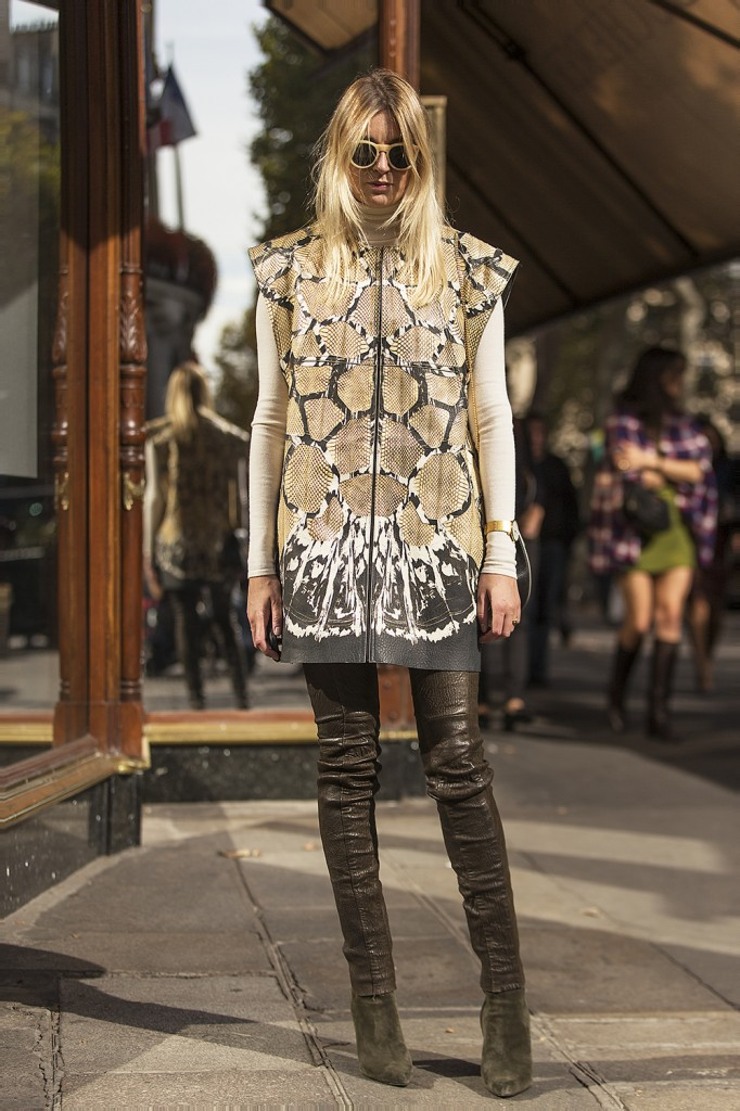 Camille Charriere On The Streets OF Paris