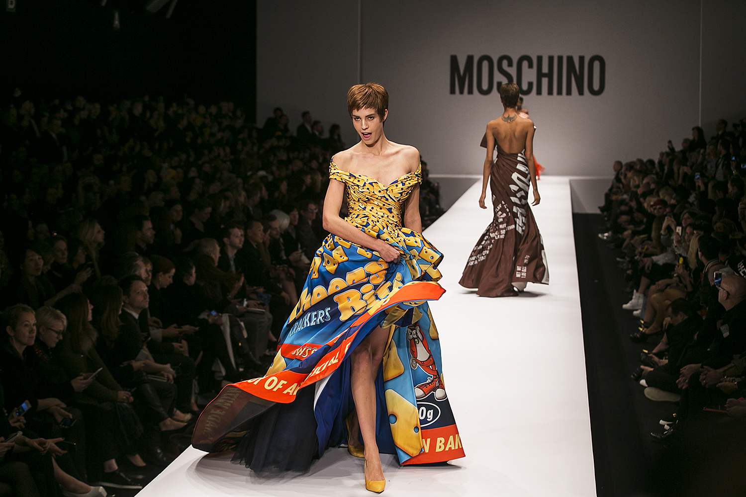 Nadja Bender For Moschino FW15