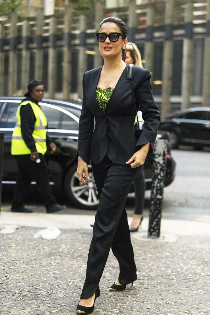 Salma Hayek At London Fashion Week