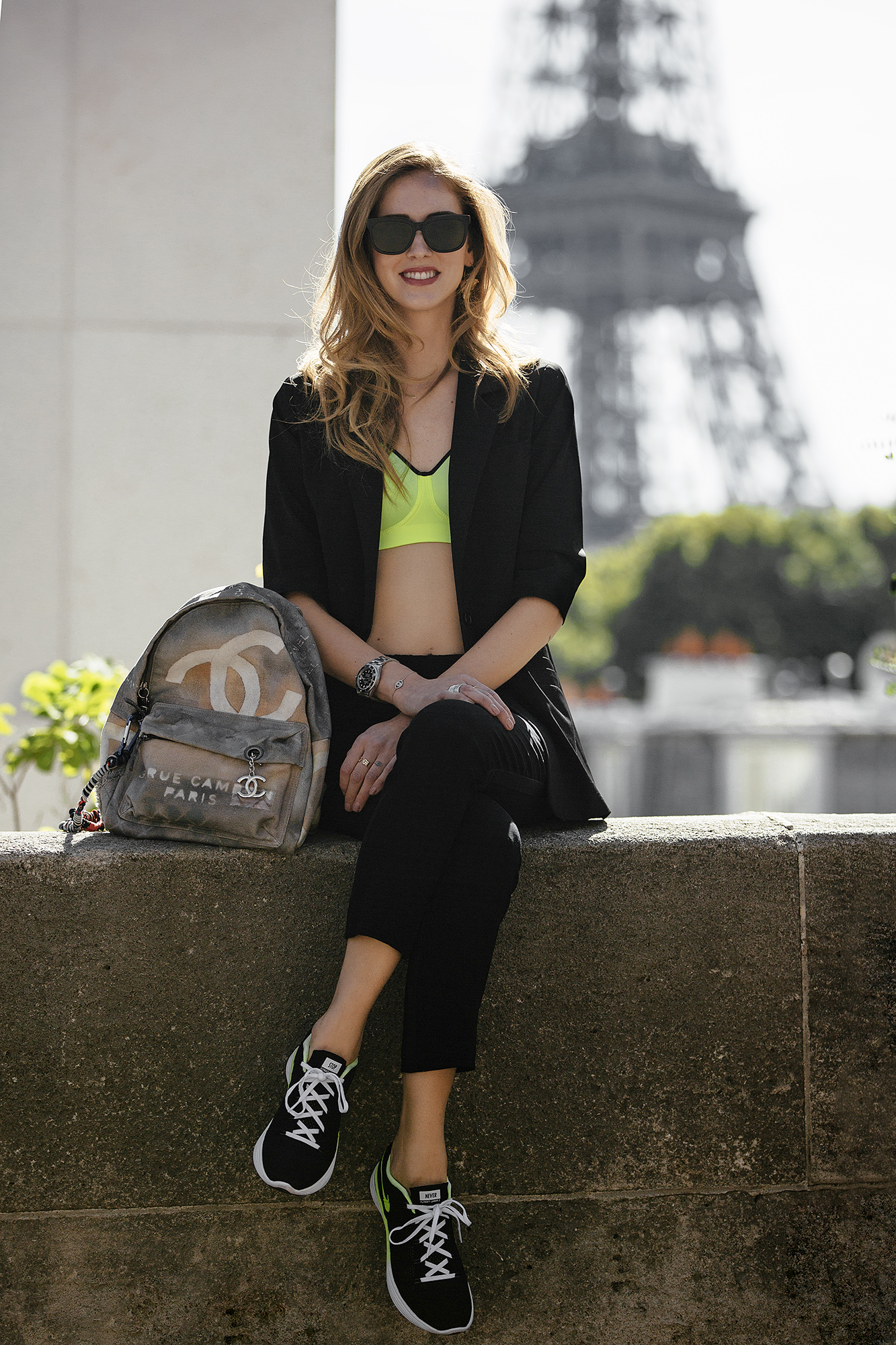 Sporty Chiara Ferragni In Paris