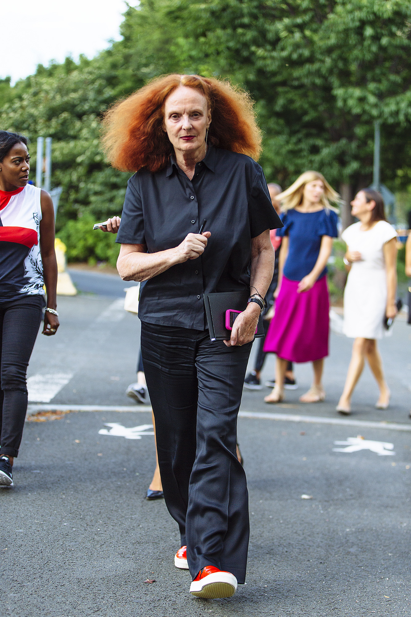 Grace Coddington at NYFW
