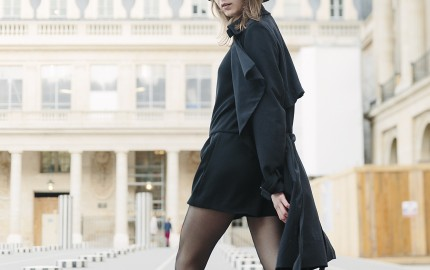 Paula Letca On The Streets Of paris