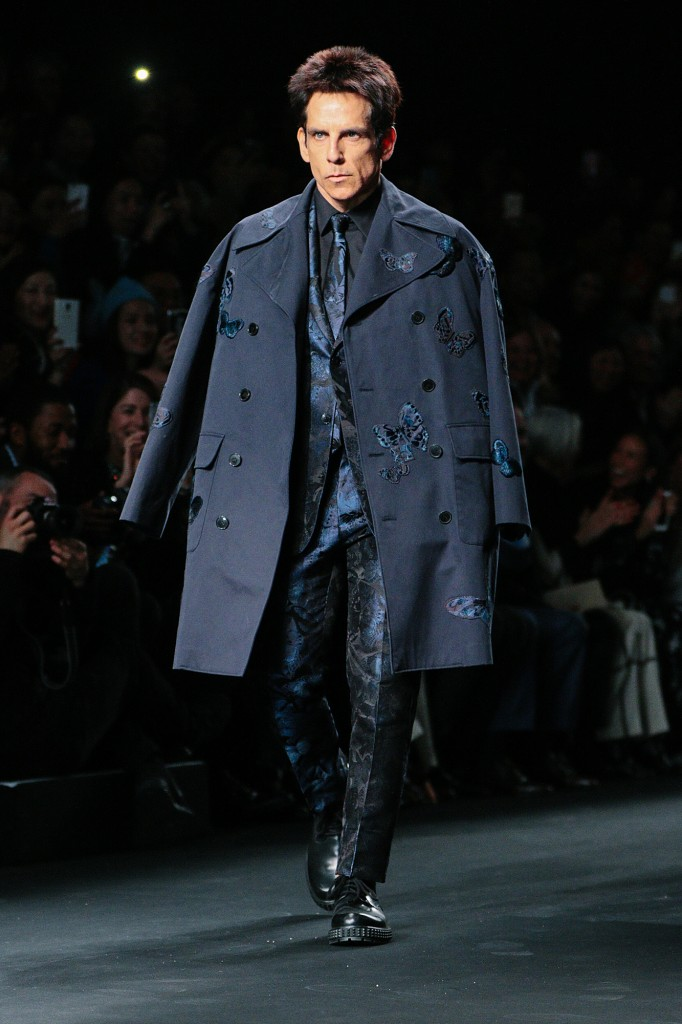 Ben Stiller For Valentino AW15 At PFW