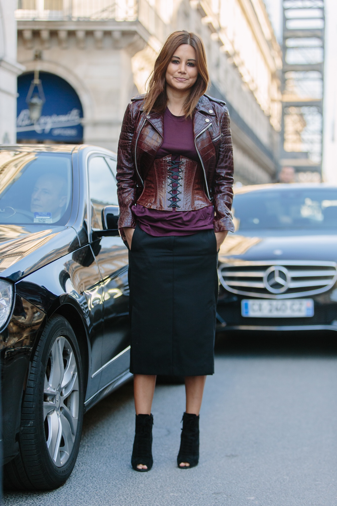 Christine Centenera On The Streets Of Paris
