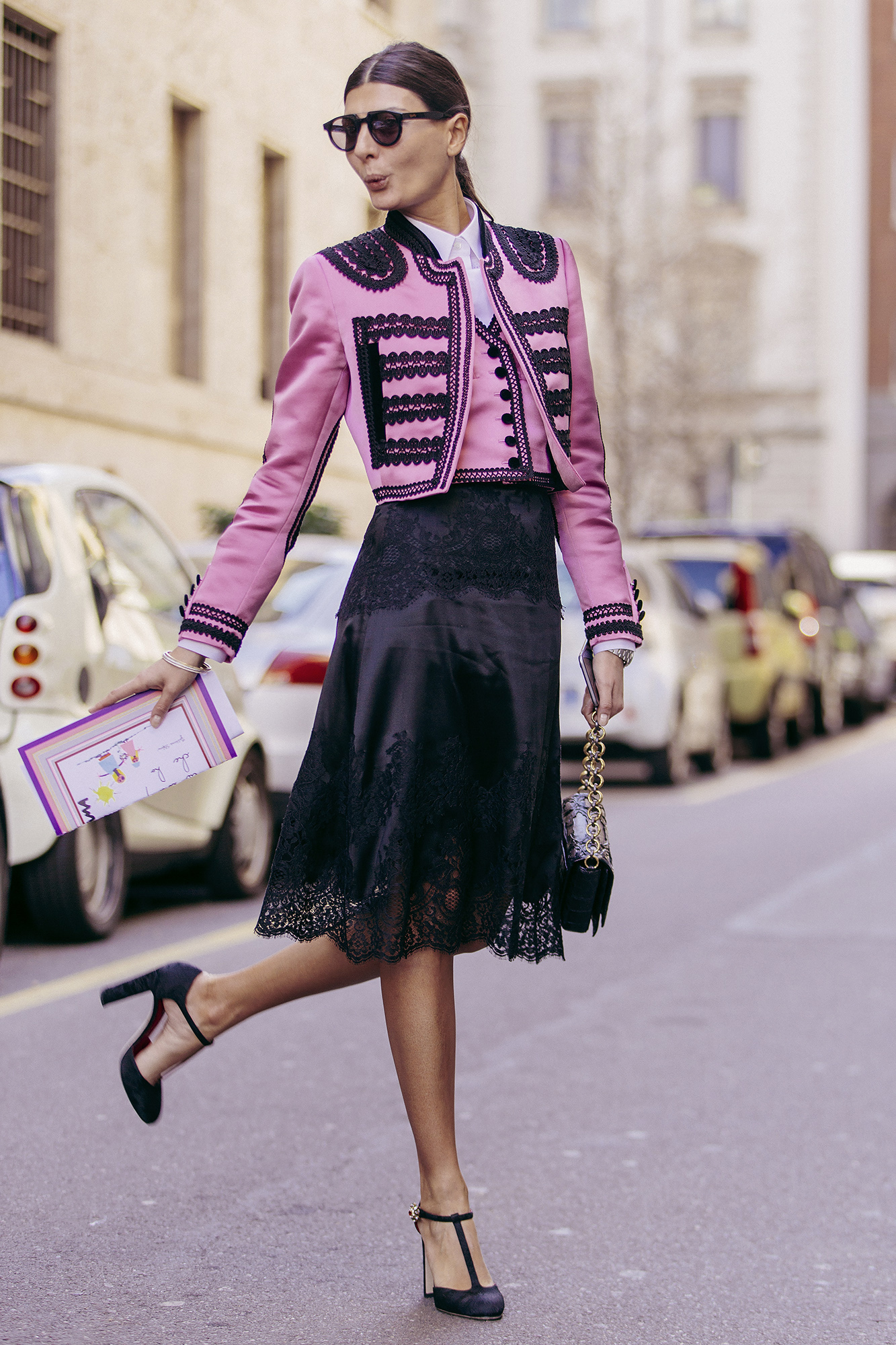 Giovanna Battaglia On The Streets Of Milan