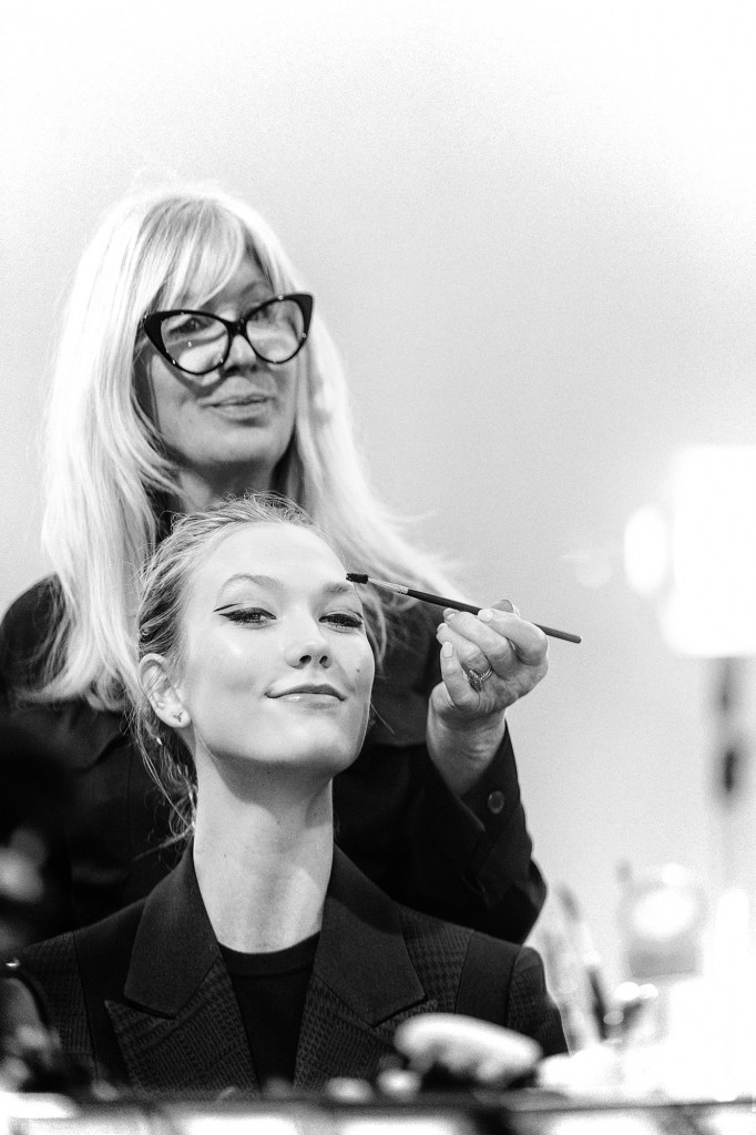 Karlie Kloss Checking The Last Details Before Mugler