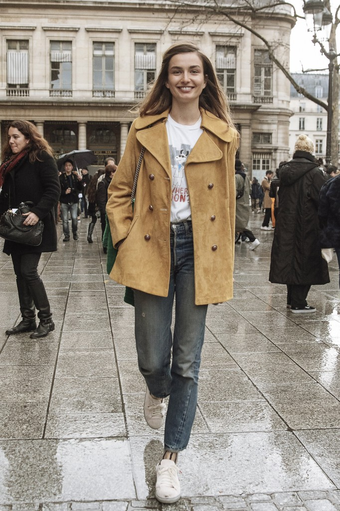Andreea Diaconu After Isabel Marant AW16